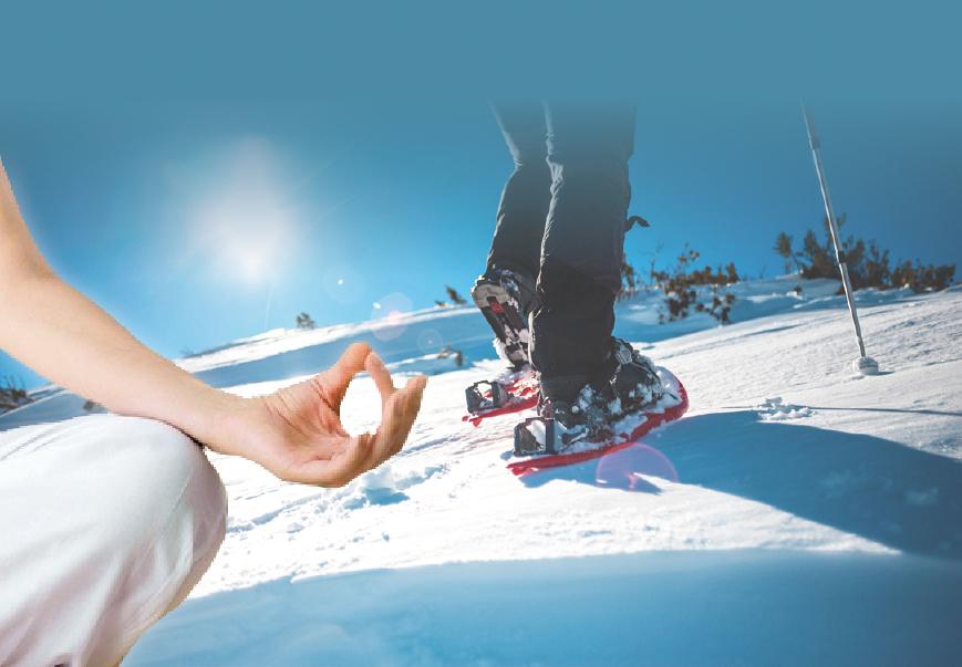 DanKe-Yoga Schneeschuhwanderung